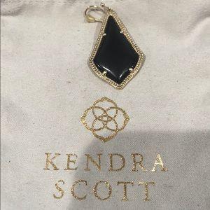 Auth. KENDRA SCOTT Black Stone Teardrop Earring